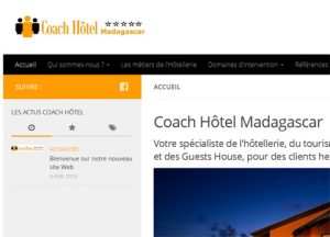 Nouveau site Coach Hôtel Madagascar