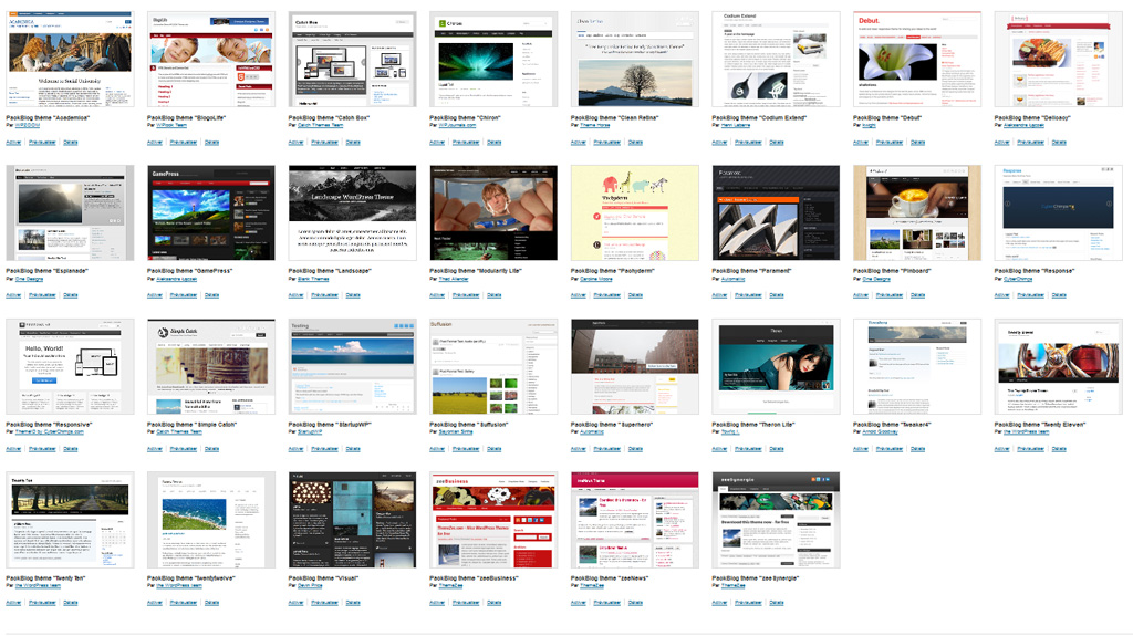 Les thèmes graphiques WordPress