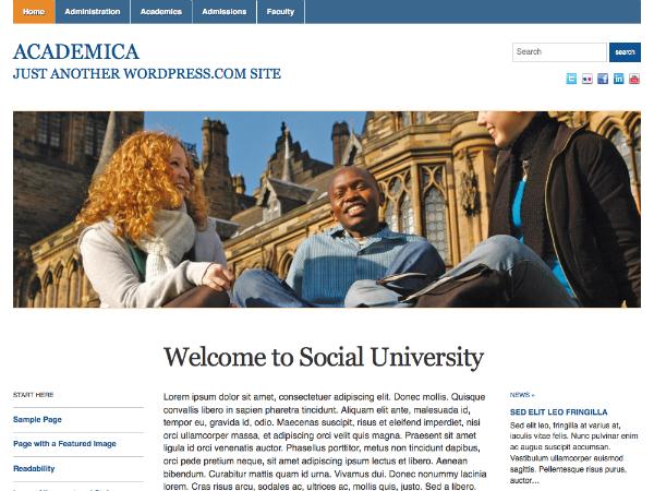 PackBlog thème Academica