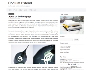PackBlog thème Codium Extend