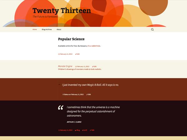 PackBlog thème Twenty Thirteen